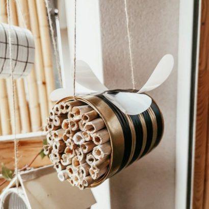 Hôtel à insectes - Boîte à conserve