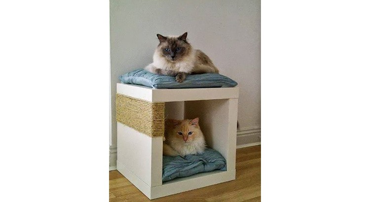 Meuble IKEA pour chat