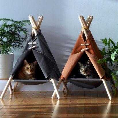 Mini tipi pour chat