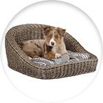 Canapé en rotin pour chien