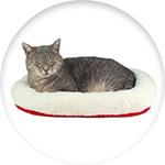 Coussin pour chat réversible