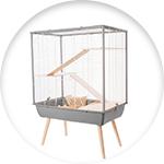 Cage sur pied pour chinchilla