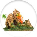 Décor pour aquarium en résine