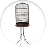 Cage pour petits oiseaux style retro