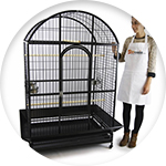 Grande cage pour perroquet