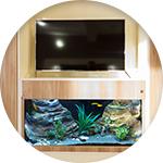Meuble aquarium télé