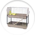 Cage pour lapin à 2 étages