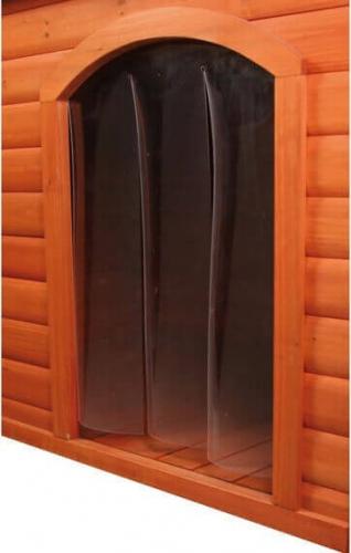 avis sur porte plastique pour niche toit plat pour chien. Black Bedroom Furniture Sets. Home Design Ideas
