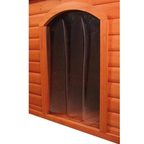 porte plastique pour niche avec pignon pour chien accessoires divers pour les niches et les. Black Bedroom Furniture Sets. Home Design Ideas