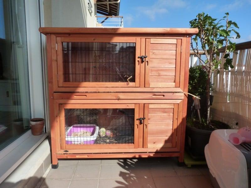 clapier double natura pour petits animaux clapier lapin. Black Bedroom Furniture Sets. Home Design Ideas