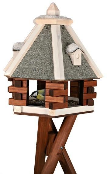 mangeoire oiseau avec pied couverture min rale nichoir d 39 ext rieur. Black Bedroom Furniture Sets. Home Design Ideas