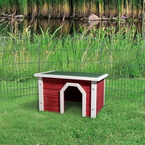 Avis sur natura abri ext rieur petits animaux rouge et blanc for Abri lapin exterieur