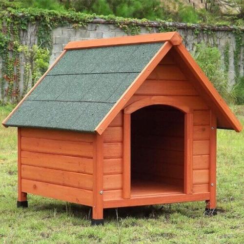 questions sur niche pour chien en bois toit pentu akira. Black Bedroom Furniture Sets. Home Design Ideas