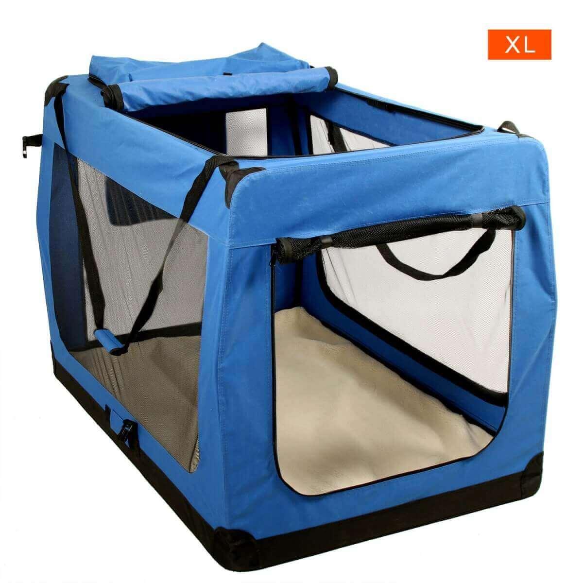 cage de transport chien transport en voiture et v lo. Black Bedroom Furniture Sets. Home Design Ideas