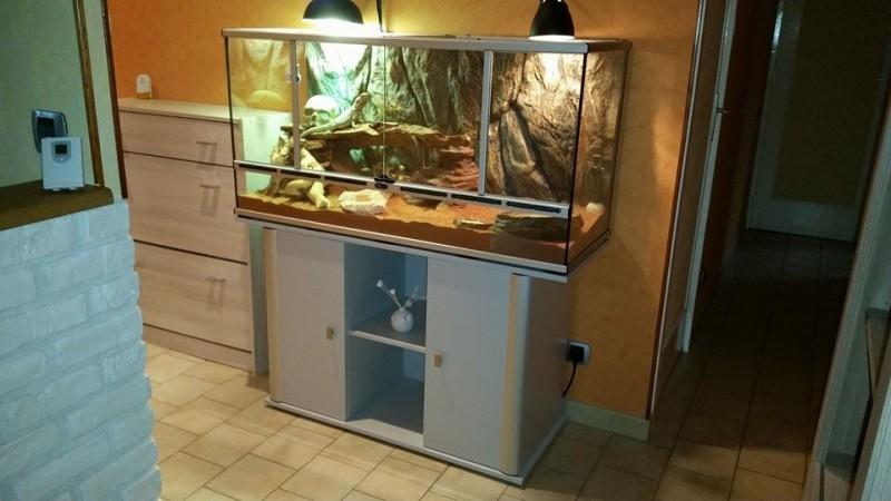 Terrarium gris aluminium 118x45x60 cm terrarium et meuble - Terrarium meuble ...