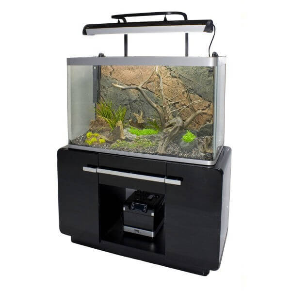 aquarium osaka 260 glossy noir 244l avec meuble aquarium. Black Bedroom Furniture Sets. Home Design Ideas